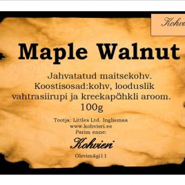 Maple Walnut 100g valmispakend