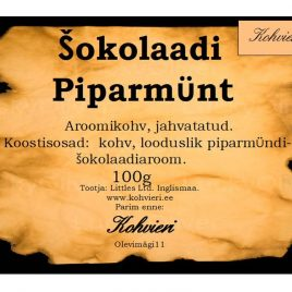 Šokolaadi Piparmünt 100g valmispakend