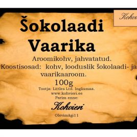Šokolaadi Vaarika 100g valmispakend