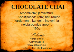 Chocolate Chai 100g valmispakend